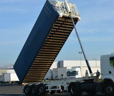 Châssis basculant silo mobile conteneur vrac citerne location MODALIS