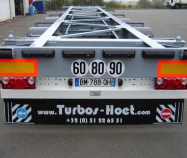 châssis porte conteneur 13.60 m caisses mobiles frigo MODALIS location