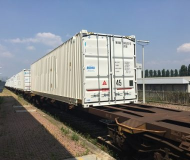 Fourgon 45 ft box location MODALIS intermodal combiné transport